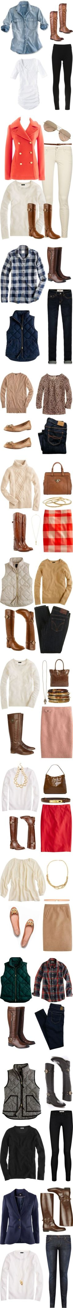 Great pieces for a cozy fall wardrobe!!