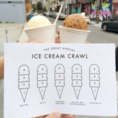 Great Annual Ice Cream Crawl, San Francisco, California // via ohhappyday