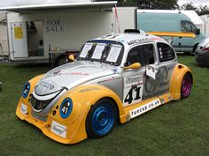 VW Beetle - looks like a stock car!Nothing slow about this guy