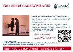 Taller de danza/pilates próximo domingo 26 mayo a las 11:30