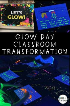 Classroom Transformation Ideas and Resources for a Glow Day - Magic of Teaching Classroom Transforma Classroom Rewards, Science Classroom, Kindergarten Classroom, Future Classroom, Classroom Themes, Classroom Organization, Classroom Management, Classroom Resources, Diy Organization