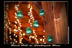 Delicate candlelight from rustic antique glass votives. #Birch Hill Events #NY #Wedding #Albany #Barn