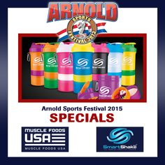 The Arnold Sports Festival is only a few days away! We have many specials on sports nutrition supplements like @smartshake ! For more information on this special savings call us at 877-444-4872 or visit us online at www.MuscleFoodsUS... #smartshake #asf2015 #musclefoodsusa #bodybuilding