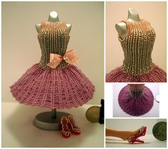 Dusty Rose ShortSkirt Bead Dress by pinkythepink.deviantart.com on @DeviantArt
