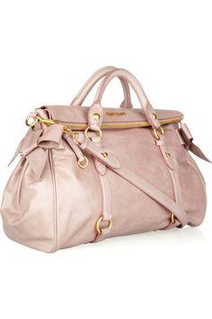 MIU MIU  Vitello bow-embellished leather tote
