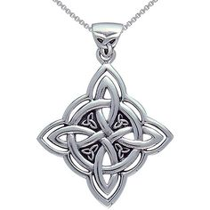 Sterling Silver Celtic Spiritual Trinity Symbol Necklace Save 45% $31.49 Was: $56.99 Complement your favorite ensemble with a Celtic necklaceJewelry is constructed of .925 sterling silverNecklace showcases a hand-finished designPendant features the ancient Celtic symbol of the Holy Trinity four times in the center of the Four Corner knotFour Corner Knot of Protection empowers the wearer to achieve a high awareness of spiritual energyPendant hangs from an 18-inch box chainNecklace secures…