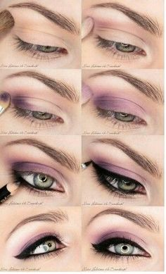 Smokey Shade Eyes Picture Tutorial for Blue Green Eyes