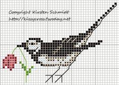 Bird Cross Stitch Freebie  Vogel Kreuzstich Vorlage