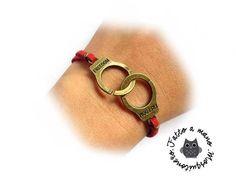 Bracciale Manette Freedom donna braccialetto pelle colori misti e metallo, by «:::Mosquitonero Shop:::», 5,90 € su misshobby.com
