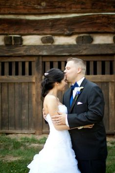 Wedding pictures, love the forehead kiss!