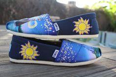 Tangled Disney Original Custom Acrylic Painting for Toms/Canvas Shoes. $130.00, via Etsy.