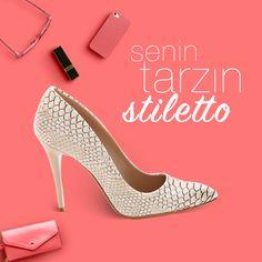 Senin tarzin stiletto! #stiletto #ayakkabi #shoes #tarz #modsimo #12002