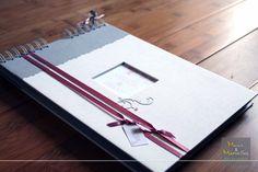 Livre d'or argenté, rose poudré et vieux rose - touche de rétro http://www.mainsetmerveillesdeco.fr/