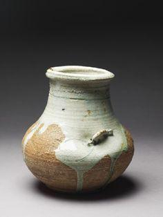Globular vase by Miyagawa Hanzan (1859 - 1940), Japan