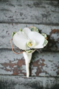 Orchid boutonniere.