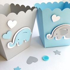 Excited to share the latest addition to my shop: Blue Gray Elephant Favor Boxes Boy Baby Shower Decorations Elephant 1 st Birthday Decor Popcorn Paper Party Blue Gray Containers Elephant Party, Elephant Theme, Elephant Baby Showers, Baby Elephant, Elephant Baby Shower Favors, Shower Bebe, Baby Boy Shower, Baby Shower Gifts, Boy Baby Showers