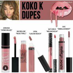 pinterest: @jaidyngrace Kylie Lip Kit Koko K Dupe