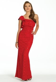 Sequin Lace One Shoulder Dress from Camille La Vie and Group USA #homecoming #prom