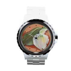 Calla Lily and Leaf Wrist Watches