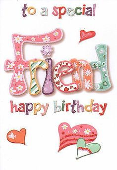 A #special #friend birthday card cute #traditional female - 17 cards to choose fr, View more on the LINK: http://www.zeppy.io/product/gb/2/120733734596/