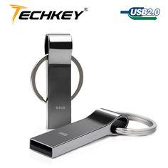 Venta caliente nuevo usb flash drive 64 GB 32 GB 16 GB 8 GB 4 GB pen drive pendrive a prueba de agua de metal de plata del disco de u disco de memoria usb 2.0