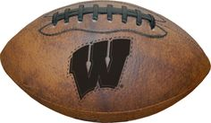 Wisconsin Badgers Football - Vintage Throwback - 9 Inches