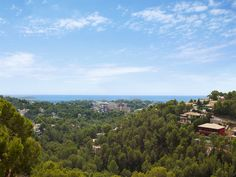 The beautiful view over the Mediterranean Sea and the landscape of Mallorca