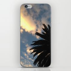 Palm Tree - The Sun Behind The Clouds iPhone & iPod Skin