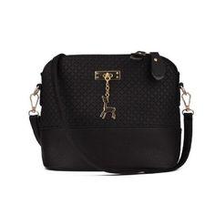 Vintage Retro Women Leather Crossbody Messegner Bag Small Shell Sling Shoulder  bag Patchwork Zipper Deer Pendant 22356846011c1