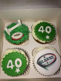 Rugby Cupcakes Party Ideas Rugby