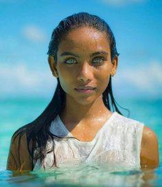 Older meena: girl blue eyes