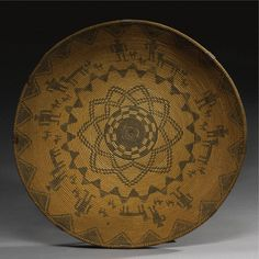 Western Apache Coiled Pictorial Tray