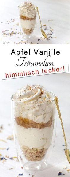 Apfel Vanille Träumchen. Ein einfaches Rezept zum Dessert oder für zwischendurch. #Apfel #Dessert #Vanille #schnellesdessert #einfachesdessert #Nachspeise #Äpfel #einfach #schnell #Herbst #Herbstrezept #Apfelrezept #Mascarpone