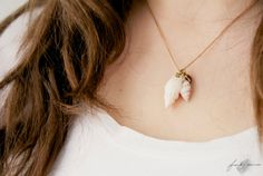 Your place to buy and sell all things handmade Arrow Necklace, Pendant Necklace, Shell Necklaces, Brass Chain, Heart Of Gold, Beach Babe, Summer Collection, Sea Shells, Delicate