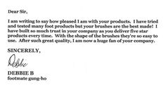 Just one of our many lovely FootMate customers  ^_^