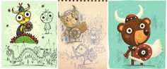 Dragún - Children's Book by Steve Simpson, via Behance
