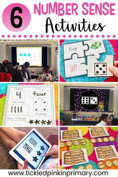 Use these 6 number sense activities to help your students get a better understanding of numbers. These are great for math centers or whole group practice. Beginning Of Kindergarten, Kindergarten Freebies, Kindergarten Activities, Fun Activities, Preschool Math, Maths, First Grade Freebies, First Grade Math, Relationship Apps