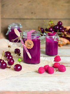 Rezept für selbstgemachten Himbeer-Kirsch-Curd - amicella