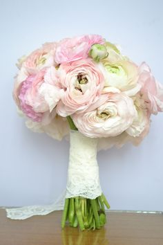 Ranunculus bouquet. Perfect for a spring wedding, or a vintage theme wedding. by Purple Effect Events