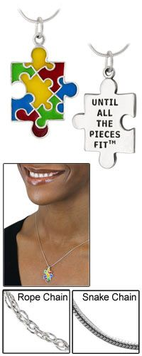 Until All The Pieces Fit™ Puzzle Piece Sterling Necklace at The Autism Site