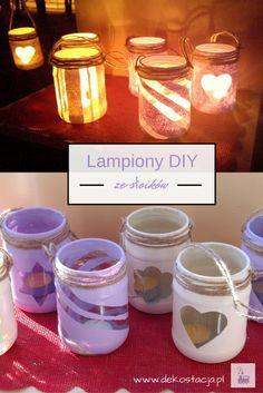 Romantyczny nastrój wieczorem dzięki lampionom. Zrób je sama, prosto i tanio! #DIY #słoik #jar #candle