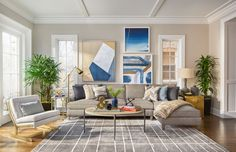 """""""Selecting artworks is subjective, but I choose to follow a general color scheme. Art should complement the room and furniture without appearing too matchy."""" Jeff Lewis - Architectural Digest"""