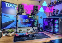 Best Gaming Setup, Gamer Setup, Gaming Room Setup, Pc Setup, Home Office Setup, Home Office Design, House Design, Tour Pc, Configuration Pc