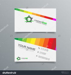 Colorful rainbow puzzle pieces forming circle vector graphic business card background design template stock vector illustration reheart Images