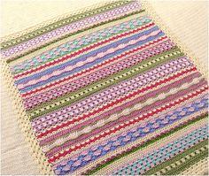 Great mixed stripe blanket.  :)