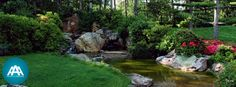 Home Services | Landscaping | HVAC | AAA Group of Companies Group Of Companies, Landscape, Stone, Outdoor Decor, Home Decor, Once Upon A Time, Illustrations, Scenery, Rock