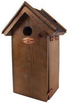 58d89c83c 14.34 GBP | Nesting Box for Titmouse INCUBATOR BIRD HOUSE WOOD bitumendach  14x18,5x31,
