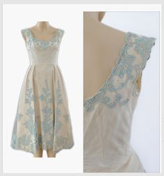 Vintage 1950s Wedding Dress  50s Bridal Dress  by recollectvint, $650.98