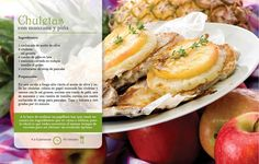 Chuletas con manzana y piña