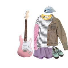I SIT IN THE CAR AND LISTEN TO STATIC by auroralaufeyson on Polyvore featuring Care Label and Vans
